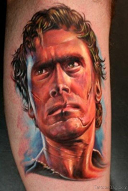 Colored Portrait Tattoo Design