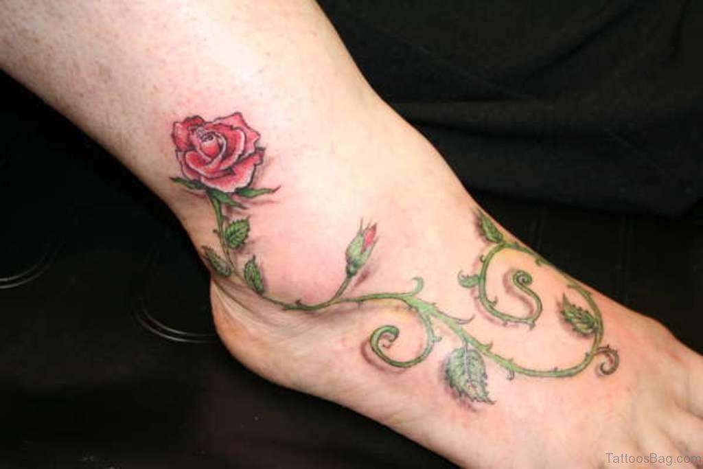 b29e0e08e11cd 50 Fabulous Rose Tattoos On Ankle