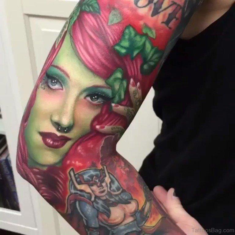 f4fde18f8 Colored Septum Piercing Girl Portrait Tattoo