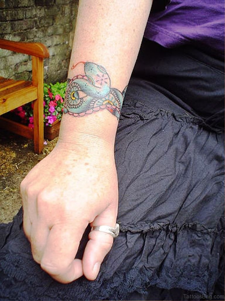 33 magnifying snake tattoos on wrist colored snake tattoo on wrist izmirmasajfo