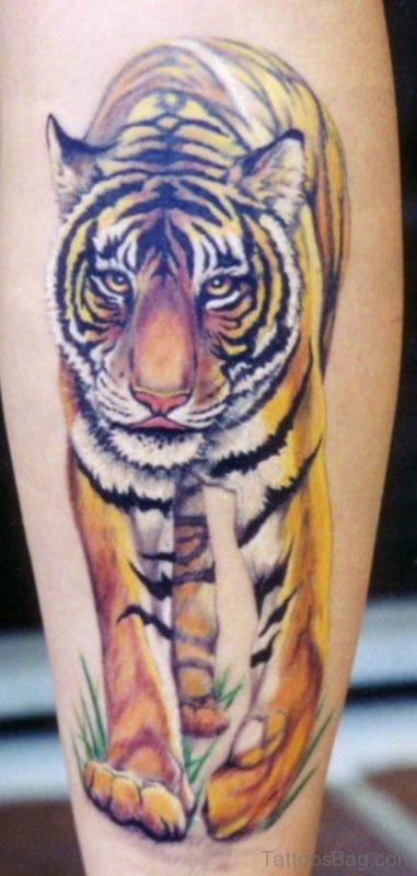 Colored Tiger Tattoo Design