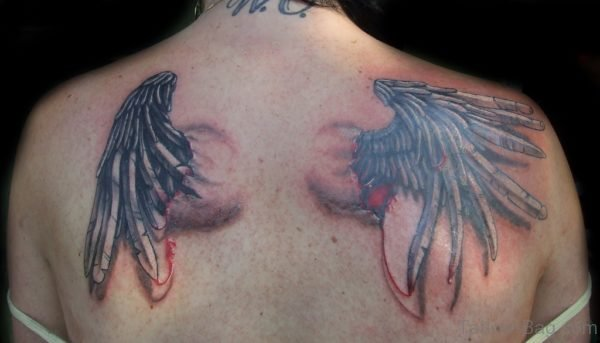 Colored Wings Tattoo Design