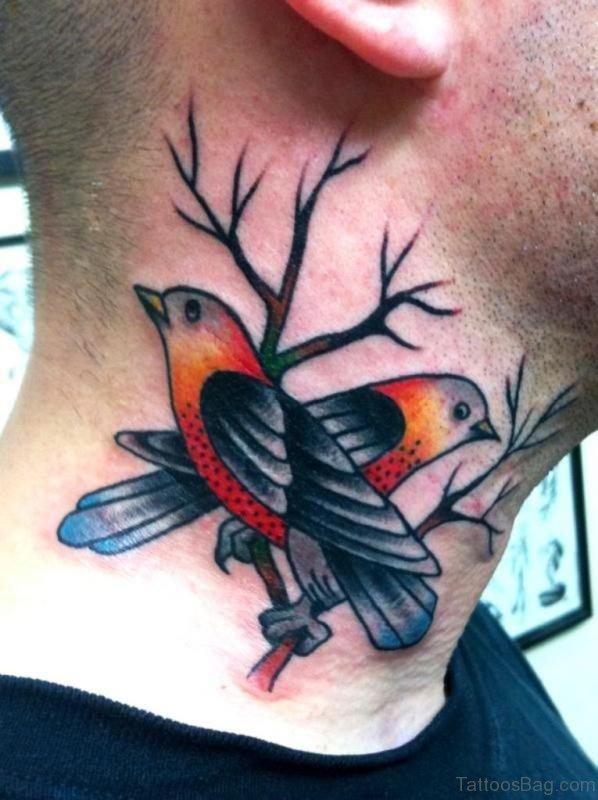 Colorful Birds Tattoo
