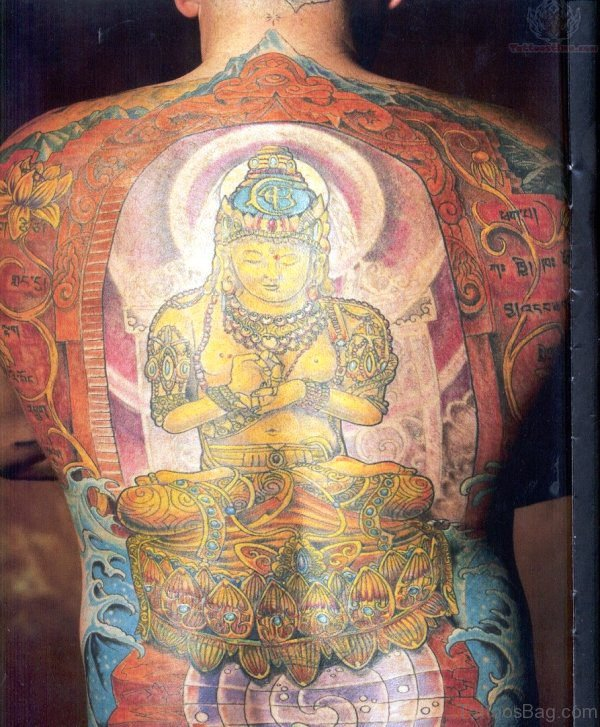 Colorful Buddha Tattoo 1