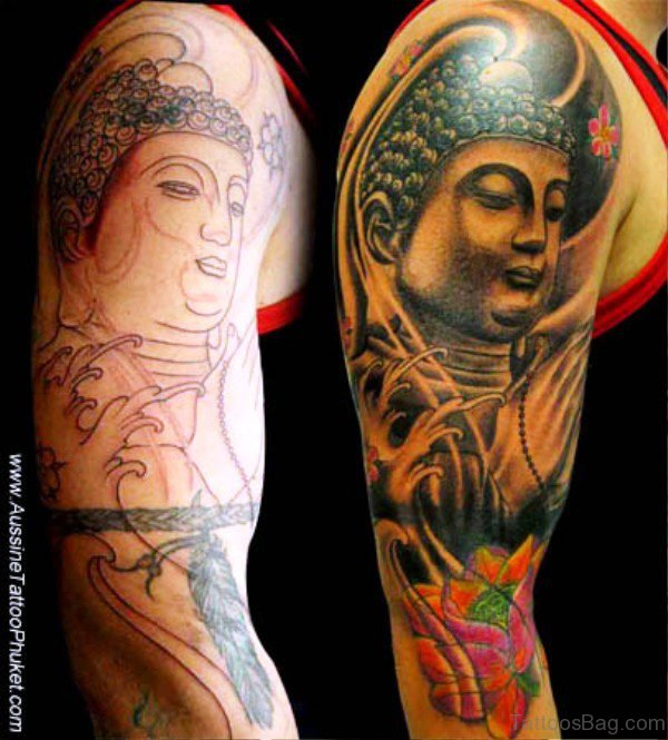 Colorful Buddha Tattoo