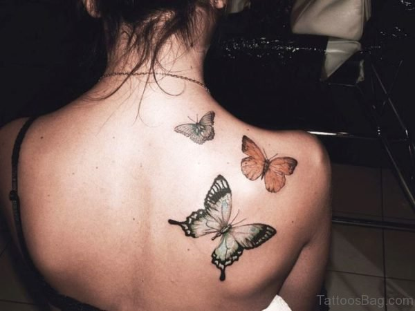 Colorful Butterfly Designer Tattoo