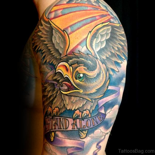 Colorful Eagle Tattoo Design