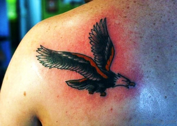 Colorful Flying Eagle Tattoo