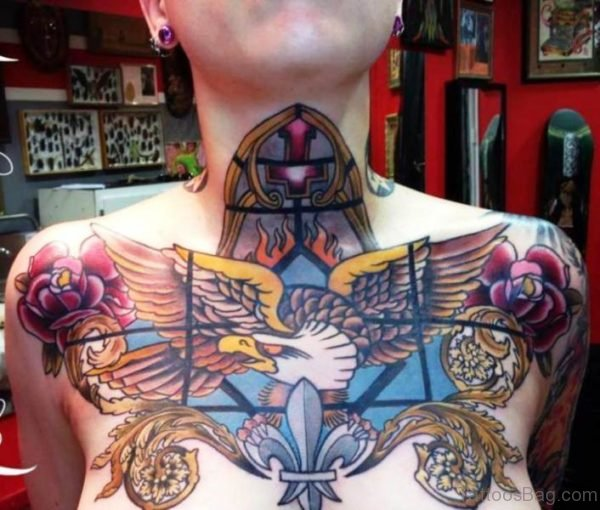 Colorful Large Eagle Tattoo