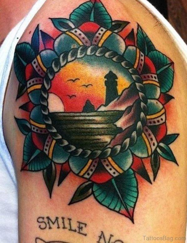 Colorful Mandala Tattoo Design