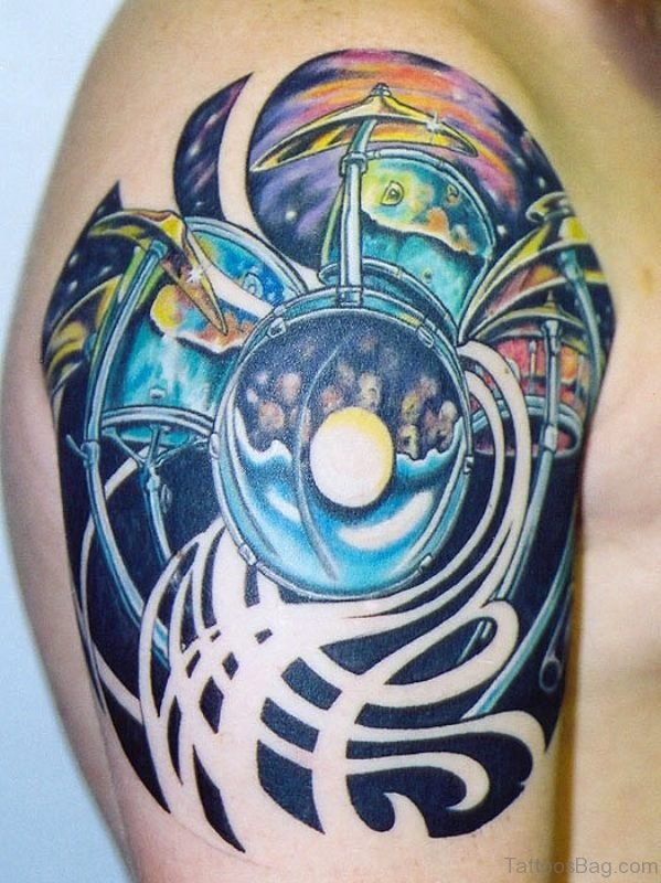 Colorful Music Tattoo