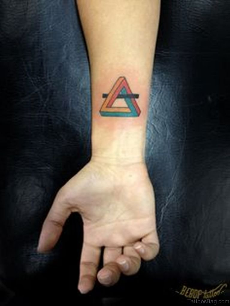 68 mind blowing triangle tattoos on wrist. Black Bedroom Furniture Sets. Home Design Ideas