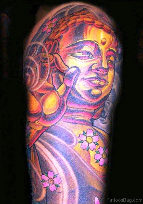 Coloured Buddha Tattoo Design