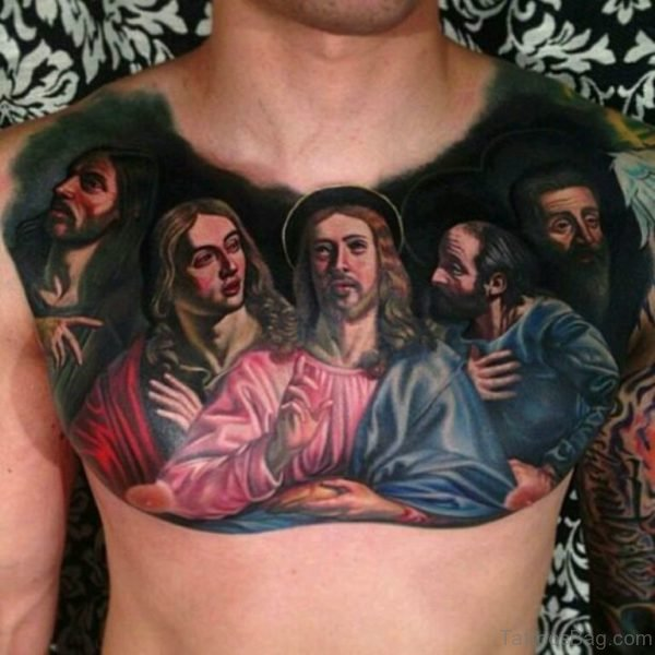 Colroed Jesus Tattoo