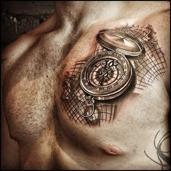 Compass And Map Tattoo 2