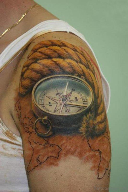 Compass Nautical Tattoo Design