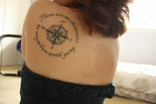 Compass Tattoo Design Picture