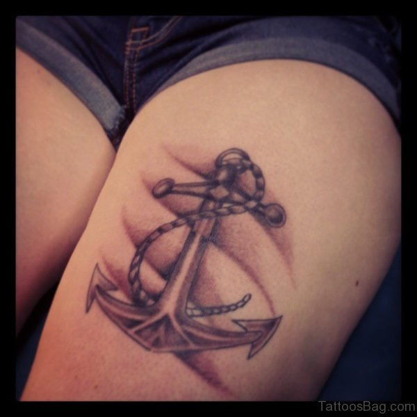 Cool Anchor Tattoo Design