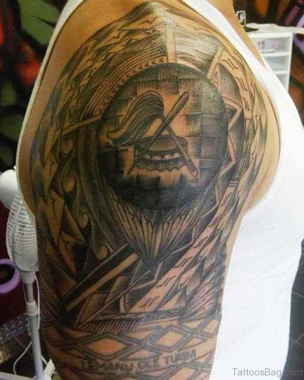 Cool Armour Shoulder Tattoo
