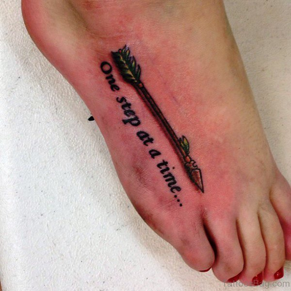Cool Arrow Tattoo With Wordings