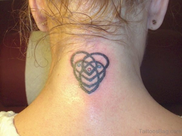 Cool Celtic Knot Tattoo On Neck