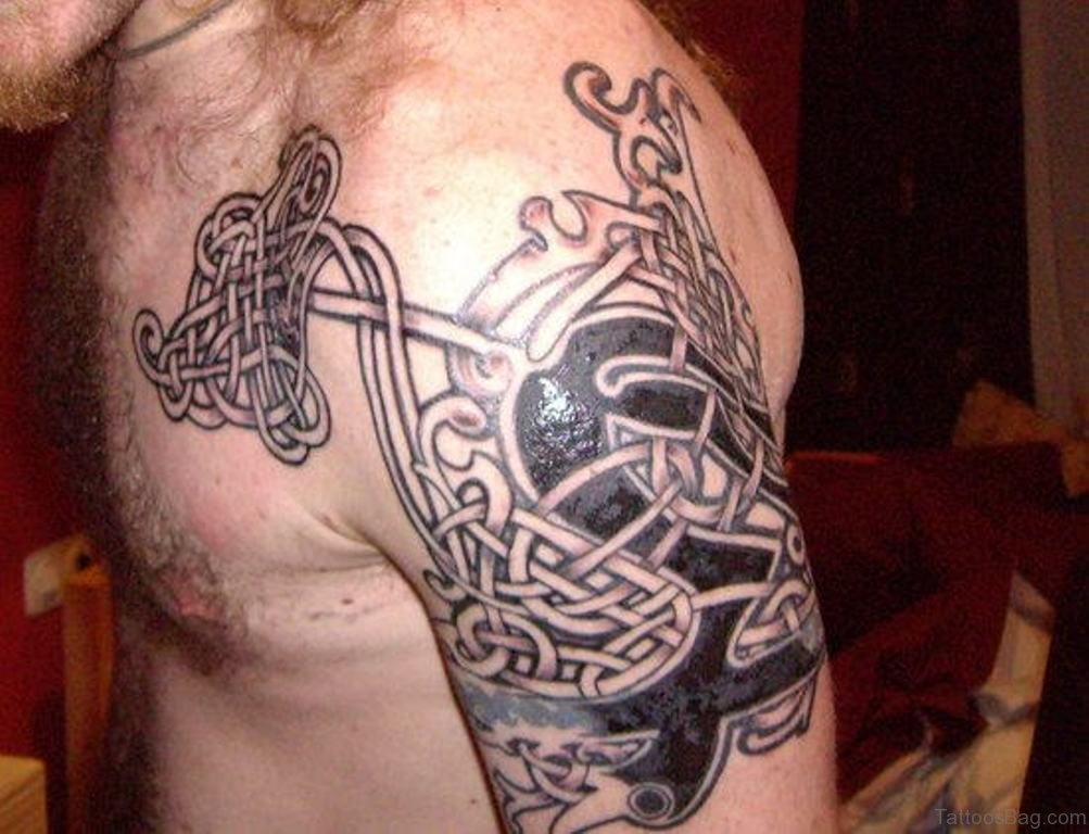 78 brilliant celtic tattoos for shoulder. Black Bedroom Furniture Sets. Home Design Ideas