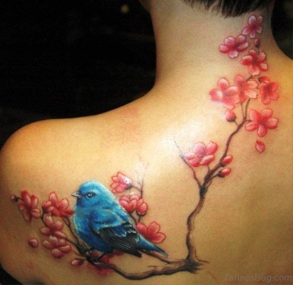 Cool Cherry Blossom Tree Tattoo Design