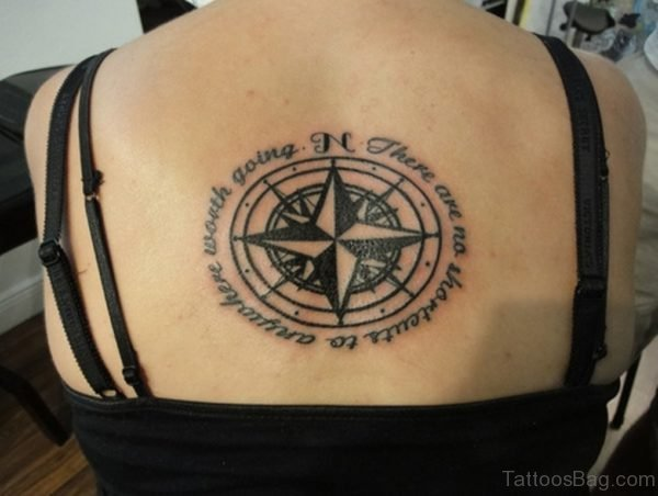 Cool Compass Tattoo Design