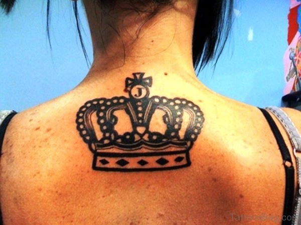 Cool Crown Tattoo On Neck