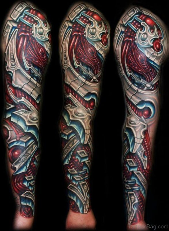 Cool Full Sleeve Tattoo