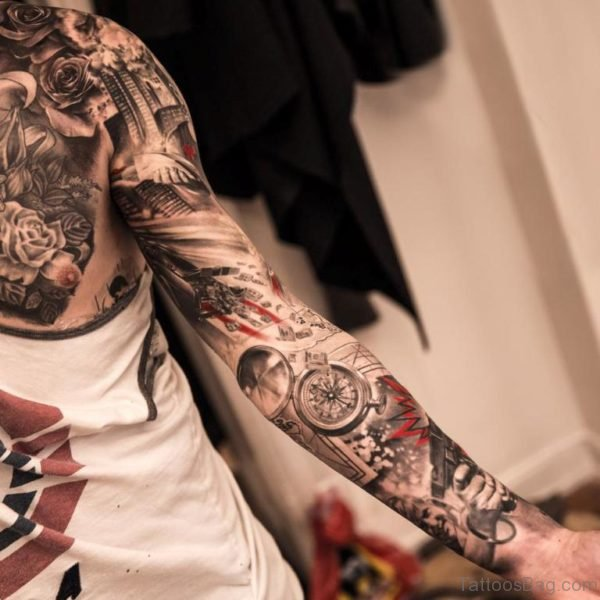 Cool Full Sleeve Tattoo For Men