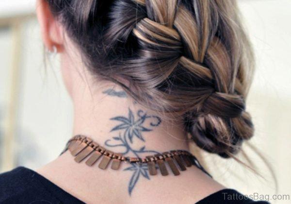 Cool Lotus Neck Tattoo