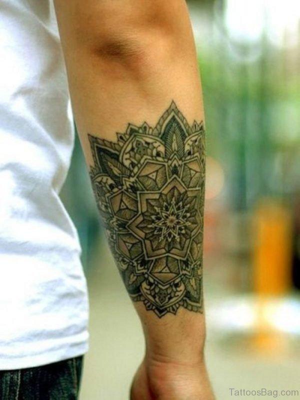 Cool Mandala Tattoo Design On Arm
