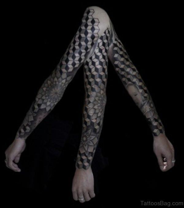 Cool Mandala Tattoo On Full Sleeve