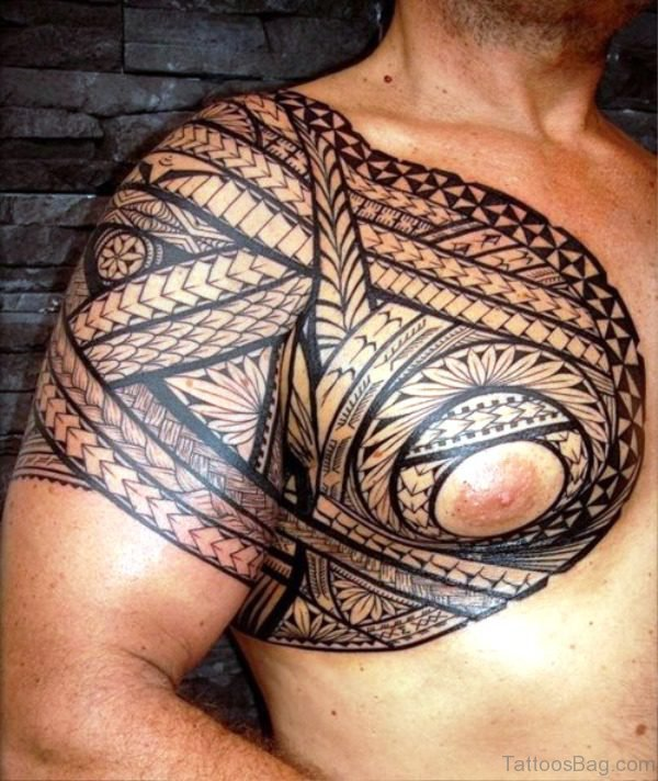 Cool Maori Shoulder Tattoo