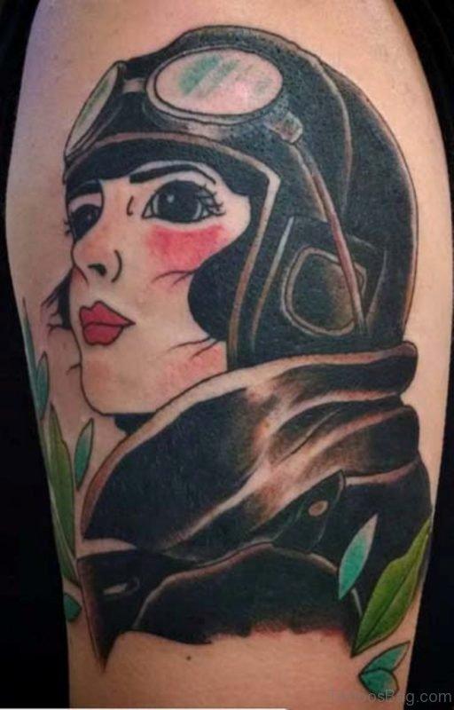 Cool Portrait Girl Tattoo