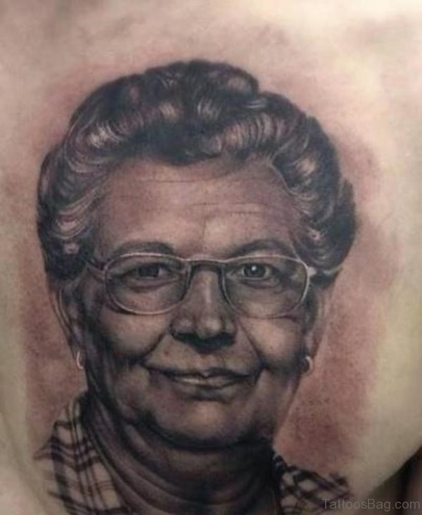Cool Portrait Tattoo Design