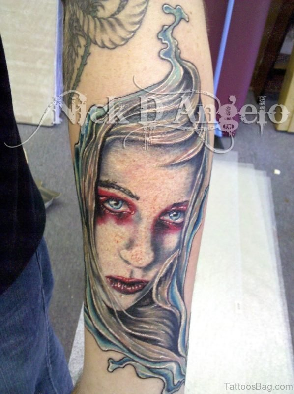 Cool Portrait Tattoo Design