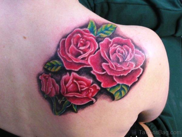 Cool Roses Flower Tattoo On Shoulder