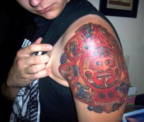 Cool Stylish Aztec Tattoo