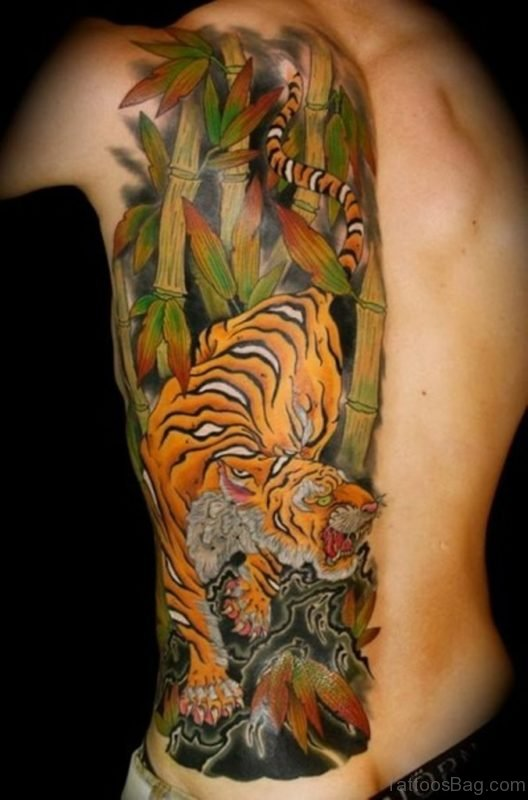 Cool Tiger Tattoo Design