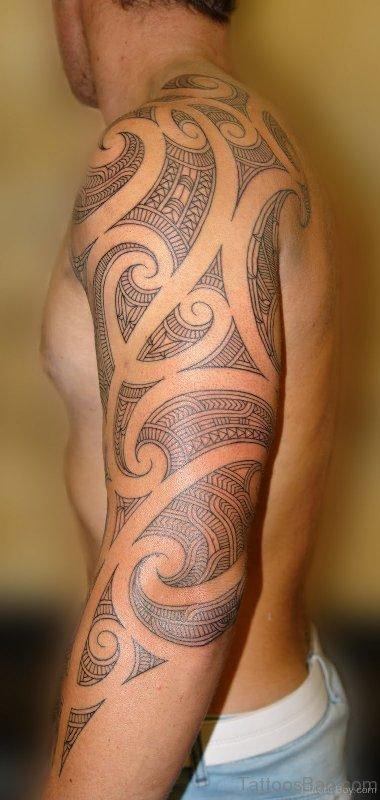 Cool Tribal Shoulder Tattoo