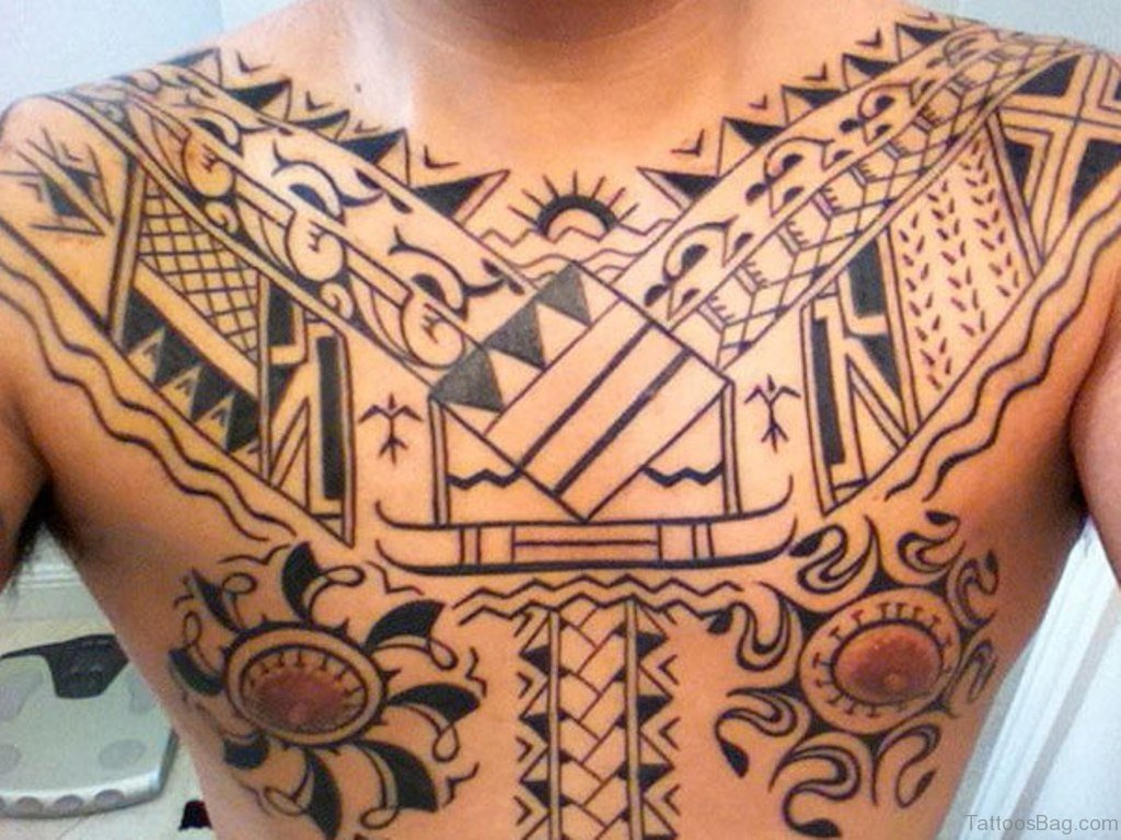 61 stylish tribal tattoos on chest