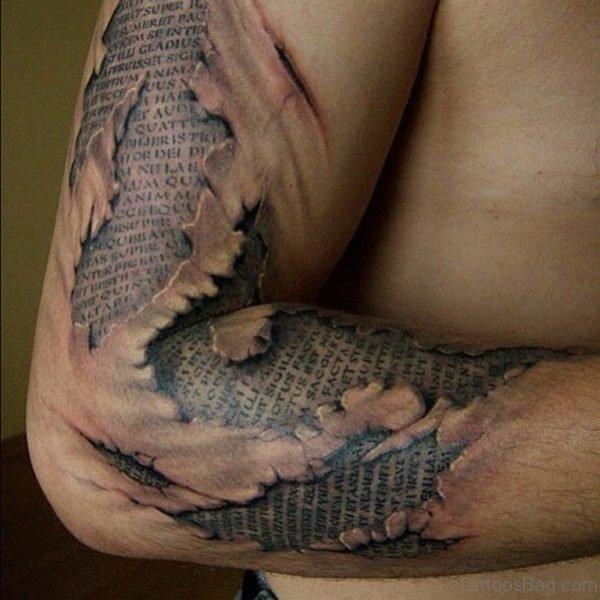 Cool Wording Tattoo Design
