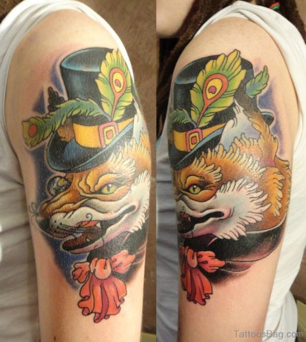 Crawling Wolf Tattoo