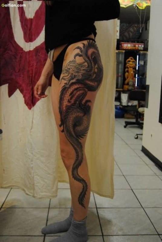 Crazy Asian Dragon Tattoo
