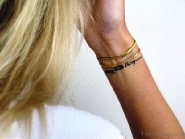 Crazy Little Thing Tattoo On Wrist