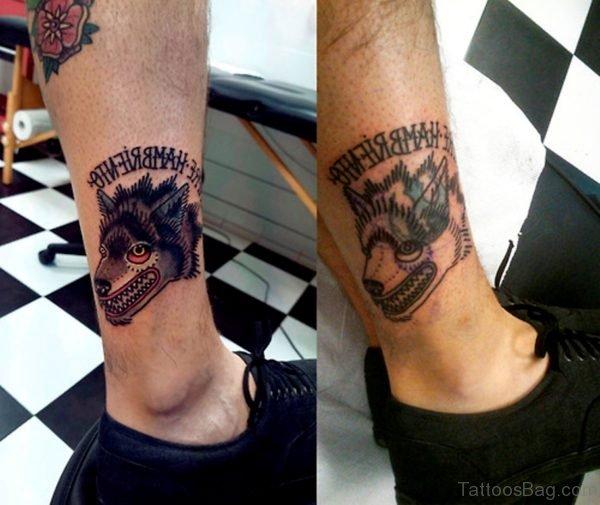 Crazy Wolf Tattoo