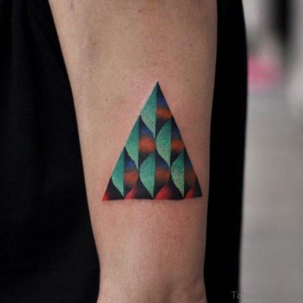 Creative Geometric Triangle Tattoo
