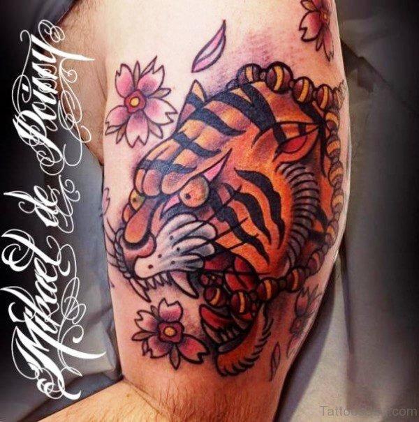 Creepy Tiger Tattoo